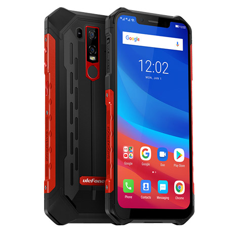 "UleFone Armor 6E AKCE!! SKLO Red 6,2"" , Android 9 4/64GB 5000mAh"
