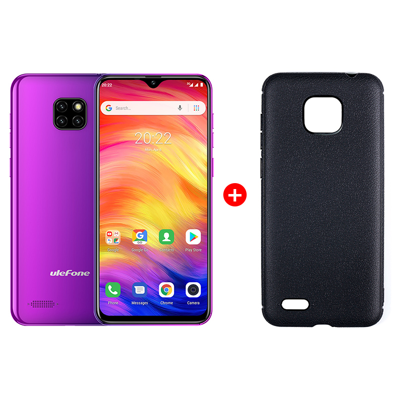 "UleFone NOTE 7 6,1"" Twilight Android 8, triple camera, 16GB, pouzdro, 3500mAh"