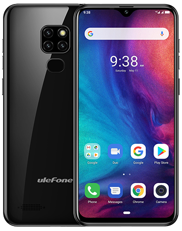 "UleFone NOTE 7P 6,1"" BLACK Android 9, 3/32GB, triple camera, pouzdro, 3500mAh"