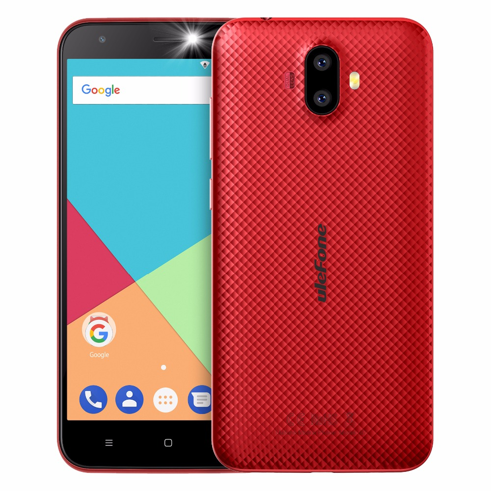 "ECP UleFone smartphone S7 Pro  5"" 2GB/16GB Red Android 7 dual camera"
