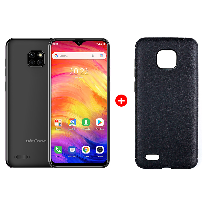 "UleFone NOTE 7 6,1"" Black Android 8, triple camera, 16GB, pouzdro, 3500mAh"