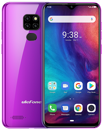 "UleFone NOTE 7P 6,1"" TWILIGHT Android 9, 3/32GB, triple camera, pouzdro, 3500mAh"