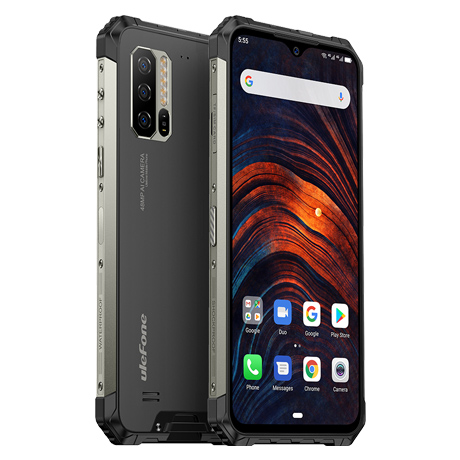 "UleFone Armor 7 6,3"" + SKLO!!! 8/128GB, 48MP, Android 9, 5500mAh, heart rate"